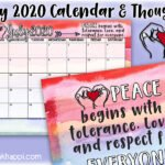 July 2020 Calendar and an important message!