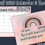 August 2020 Calendar is all about the smile!