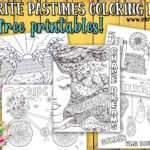 Favorite Pastimes Coloring Pages… Summer Fun!