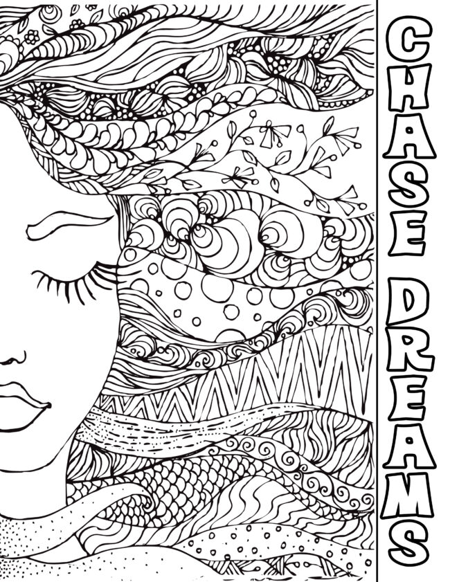 Chase dreams coloring page free printable #freeprintable #coloring page