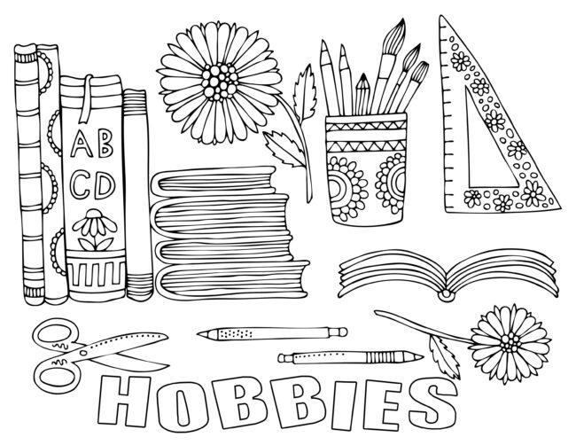Desktop hobbies coloring page free printable.#freeprintable #coloring page