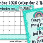 September 2020 Calendar and how to have all GOOD days!