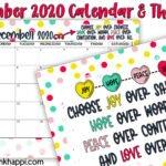 December 2020 Calendar and Motivational Thought