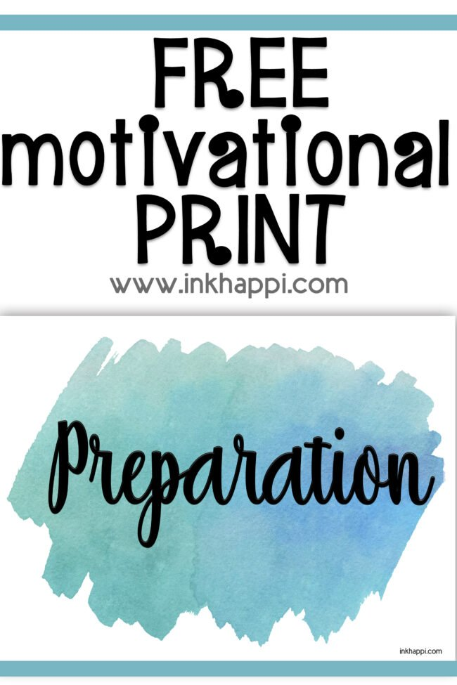 Preparation: the word pf the month for January. We talk about ways we can incoeporate this word in our lives. #freeprintable #oneword