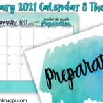 January 2021 Calendar and word of the month: Preparation