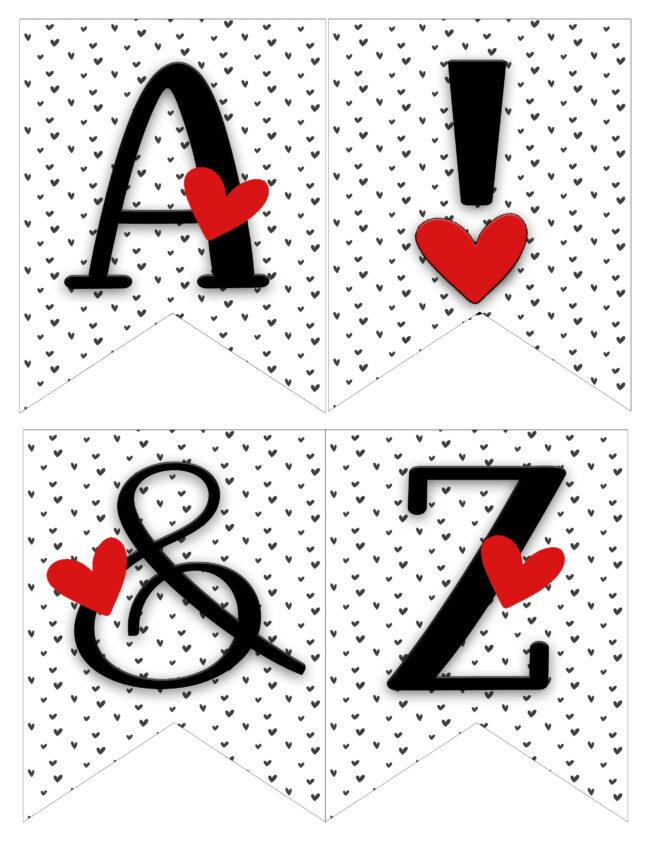 Love heart banner A ! & Z