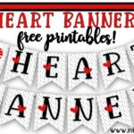 Heart Banner  free printables to print and share the love!
