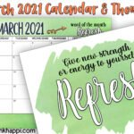 Over 25 ways to REFRESH yourself & March 2021 Calendar!
