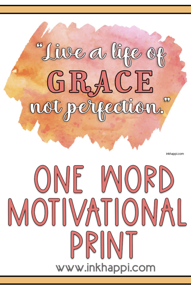 Grace is the word of the month! Sharing a thought about Grace along with the August 2021 Calendar. Free printables! #calendar #freeprintables #grace