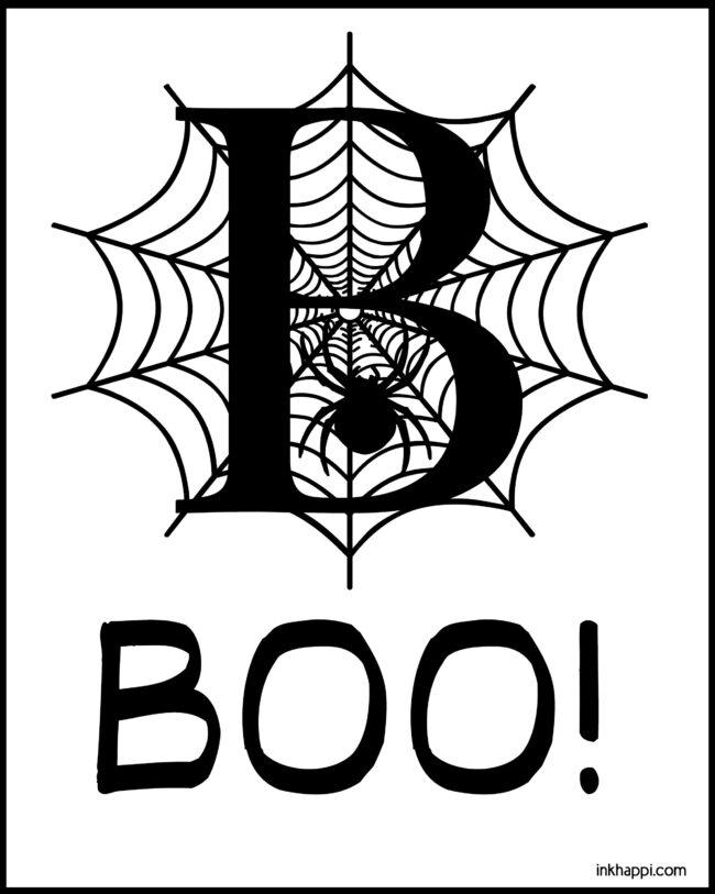 B is for BOO! Cute free halloween printable #freeprintable #halloween