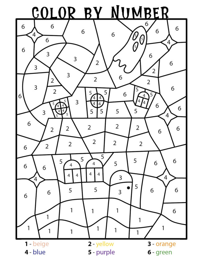Halloween Color by number activity pages. Free printables! #halloween #freeprintables #coloring