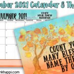 November 2021 Calendar and how to count your blessings