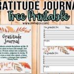 Gratitude Journal ideas and free printables!